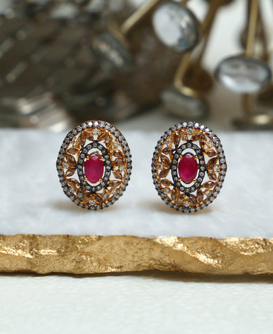 Ruby Coffee Antique Studs