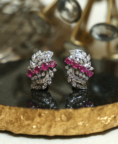 Zircon and Ruby Studs 1