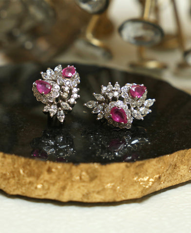 Zircon and Ruby studs 2