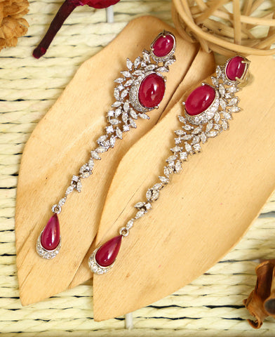 Ruby Marquee Earrings