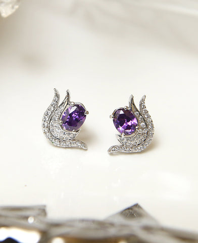 Purple Love Studs