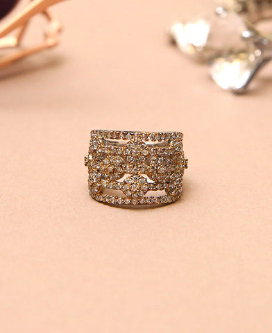 Clear Zircon Ring