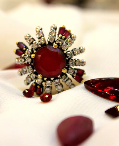 Ruby Fan Ring