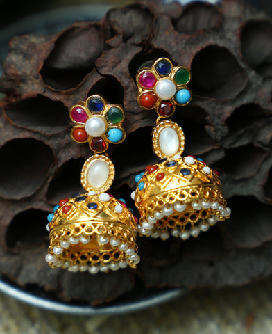 Colorful trendy Jhumkas