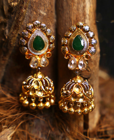 Elaborate texture worked Jhumkas