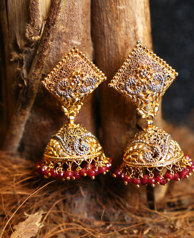 Hand Made filigree Jhumkas