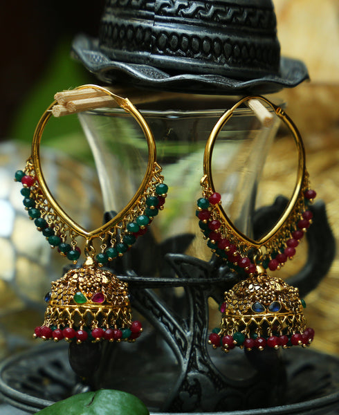 Traditional Pipe bali V Jhumkas 1