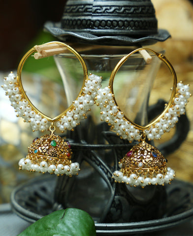 Traditional Pipe bali V Jhumkas 2