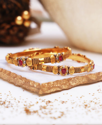 Ruby Gold Thread Karai