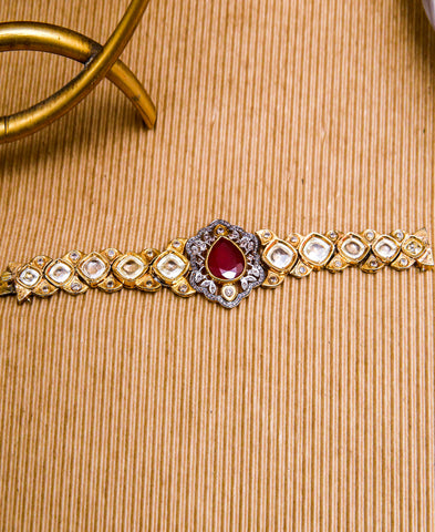 Ruby Wrist Watch Bracelet