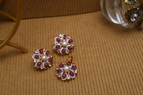 The Flower Tops with Cultured Pearl Centres