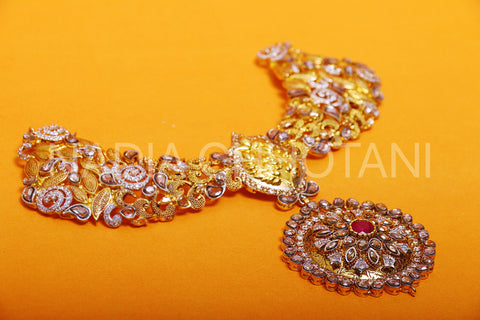 Gulabi - Bridal Set with treated Rubies and Polkies