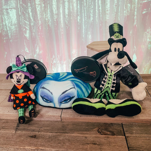Halloween Add Ons - Goofy Plush, Madame Leota Ears, Minnie Witch Plush