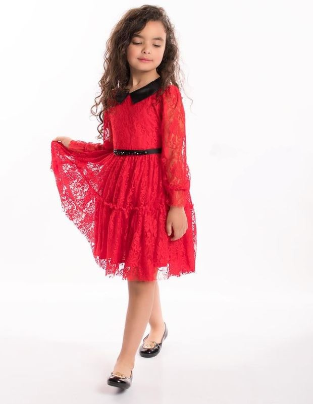 Robe rouge pour fille