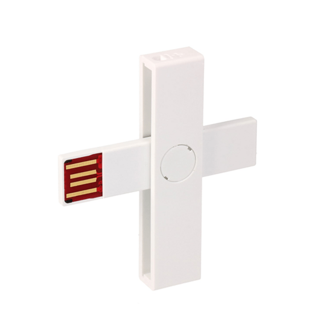 +iD WHITE smart card reader