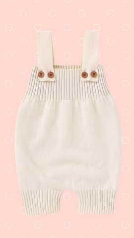 Knitted Overall In Beige