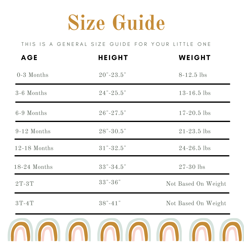 size guide tiny feet co