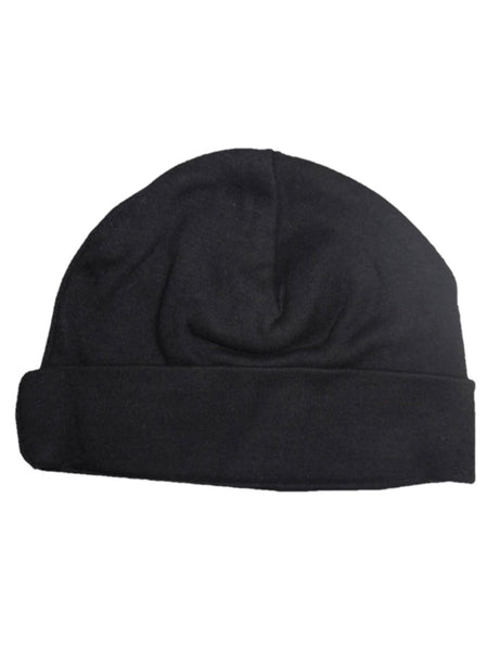 Black Baby Beanie Cap Fits Babies 0-18 Months