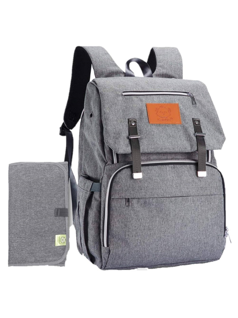 Explorer Diaper Bag Backpack in Classic Gray
