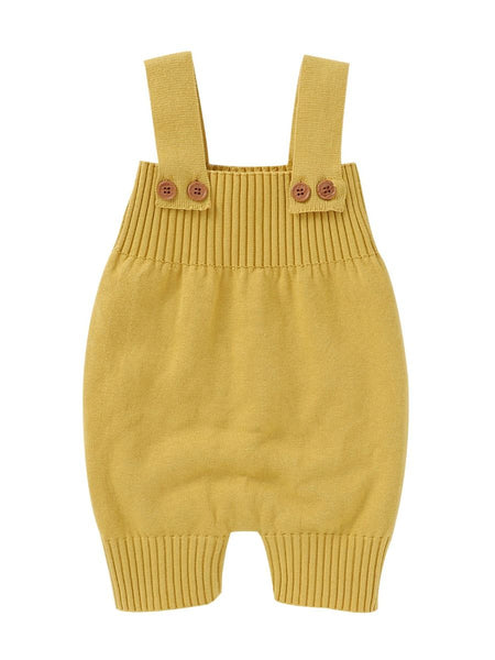 Knit Overall Mustard Yellow for Babies