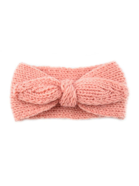 Knotted headband for babies in pink and coral
