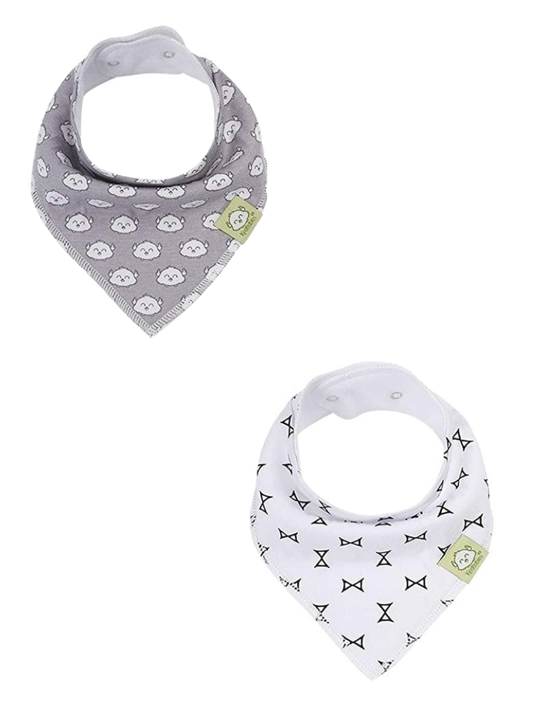 2-Pack Triangle Bibs - Playful Print