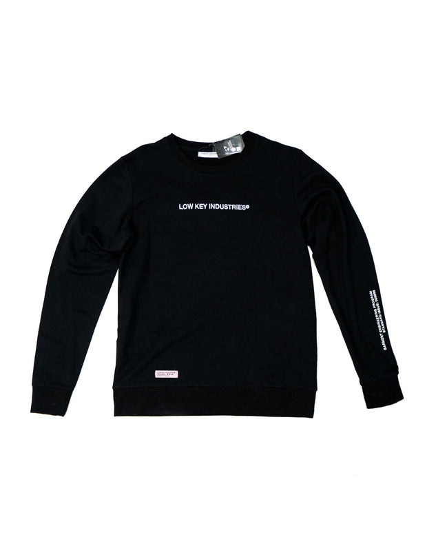 STAFF LIGHTWEIGHT CREWNECK (BLACK)