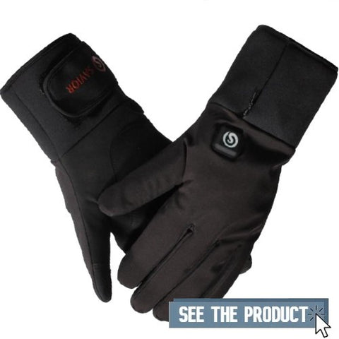 Thin Heated Gloves for Raynaud