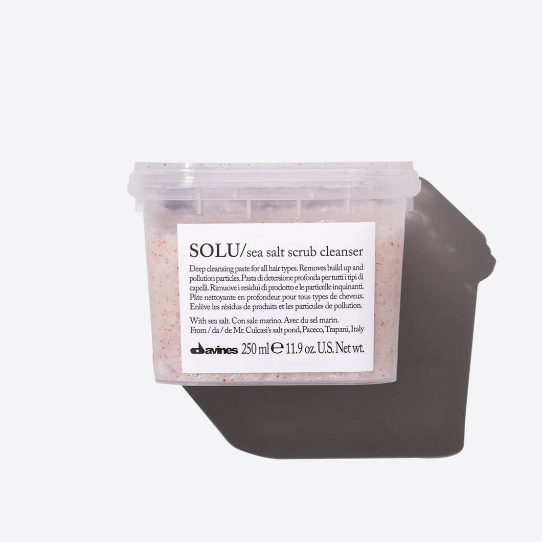 DAVINES Essential Haircare SOLU Sea salt scrub cleanser 250ml