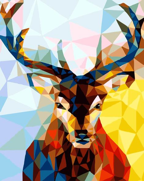 Deer Diy Paint By Numbers Kits UK AN0101