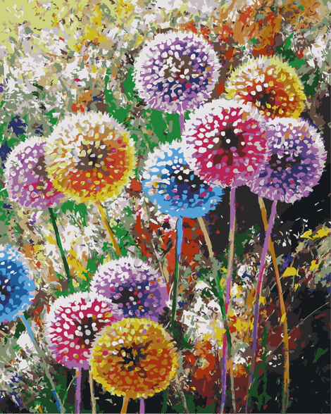 Dandelion Lake Diy Paint By Numbers Kits UK PL0107