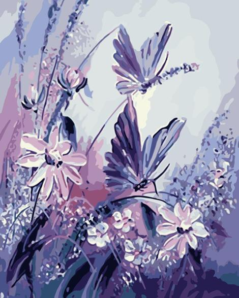 Butterfly Diy Lily Paint By Numbers Kits UK PL0112
