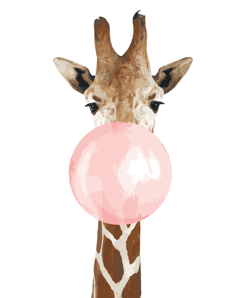 Giraffe Diy Paint By Numbers Kits UK AN0116