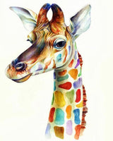 Giraffe Diy Paint By Numbers Kits UK AN0118
