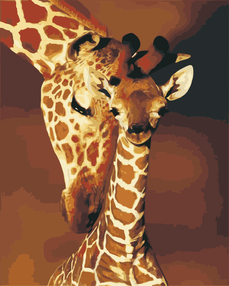 Giraffe Diy Paint By Numbers Kits UK AN0119