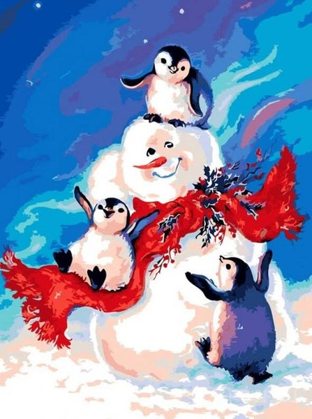 Penguin Diy Paint by Numbers Kits UK DIY CH0011