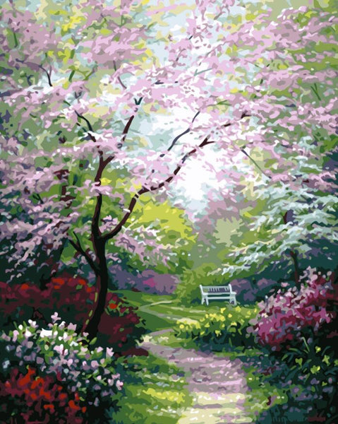 Flower Scenery Diy Paint By Numbers Kits UK PL0120