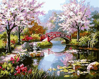 Cherry Blossoms Diy Paint By Numbers Kits UK PL0121