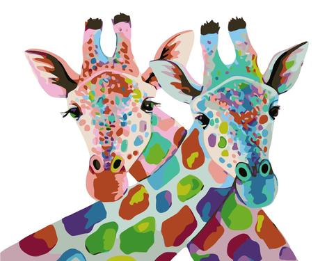Giraffe Diy Paint By Numbers Kits UK AN0122