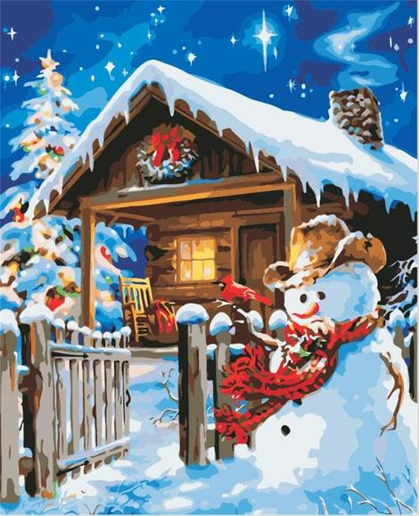 Snowman Diy Paint By Numbers Kits UK CH0013