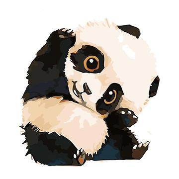 Panda Diy Paint By Numbers Kits UK AN0149