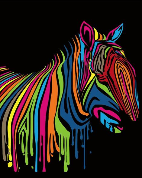 Zebra Diy Paint By Numbers Kits UK AN0159