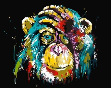 Monkey Diy Paint By Numbers Kits For Adults UK AN0168