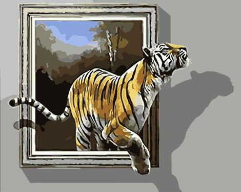 Tiger Diy Paint By Numbers Kits UK AN0016