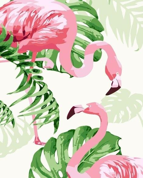 Flamingo Diy Paint By Numbers Kits UK AN0179