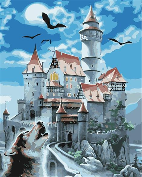 Landscape Castle Paint By Numbers Kits UK BU0003