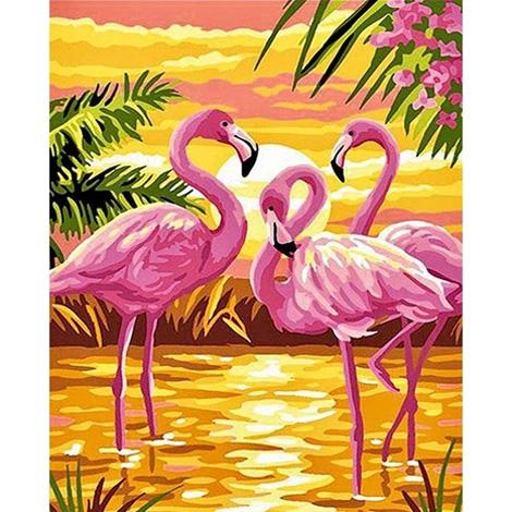 Pink Flamingo Diy Paint By Numbers Kits UK AN0180