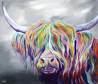 Highland Cow Diy Paint By Numbers Kits UK AN0188