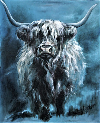 Highland Cow Diy Paint By Numbers Kits UK AN0190