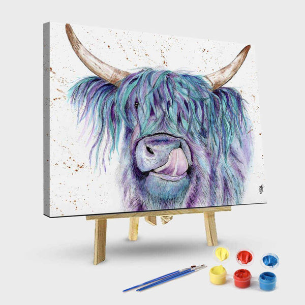 Highland Cow Diy Paint By Numbers Kits UK AN0191